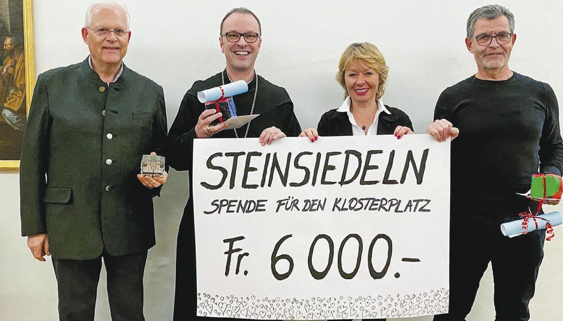 6000 Franken für den Klosterplatz gesammelt