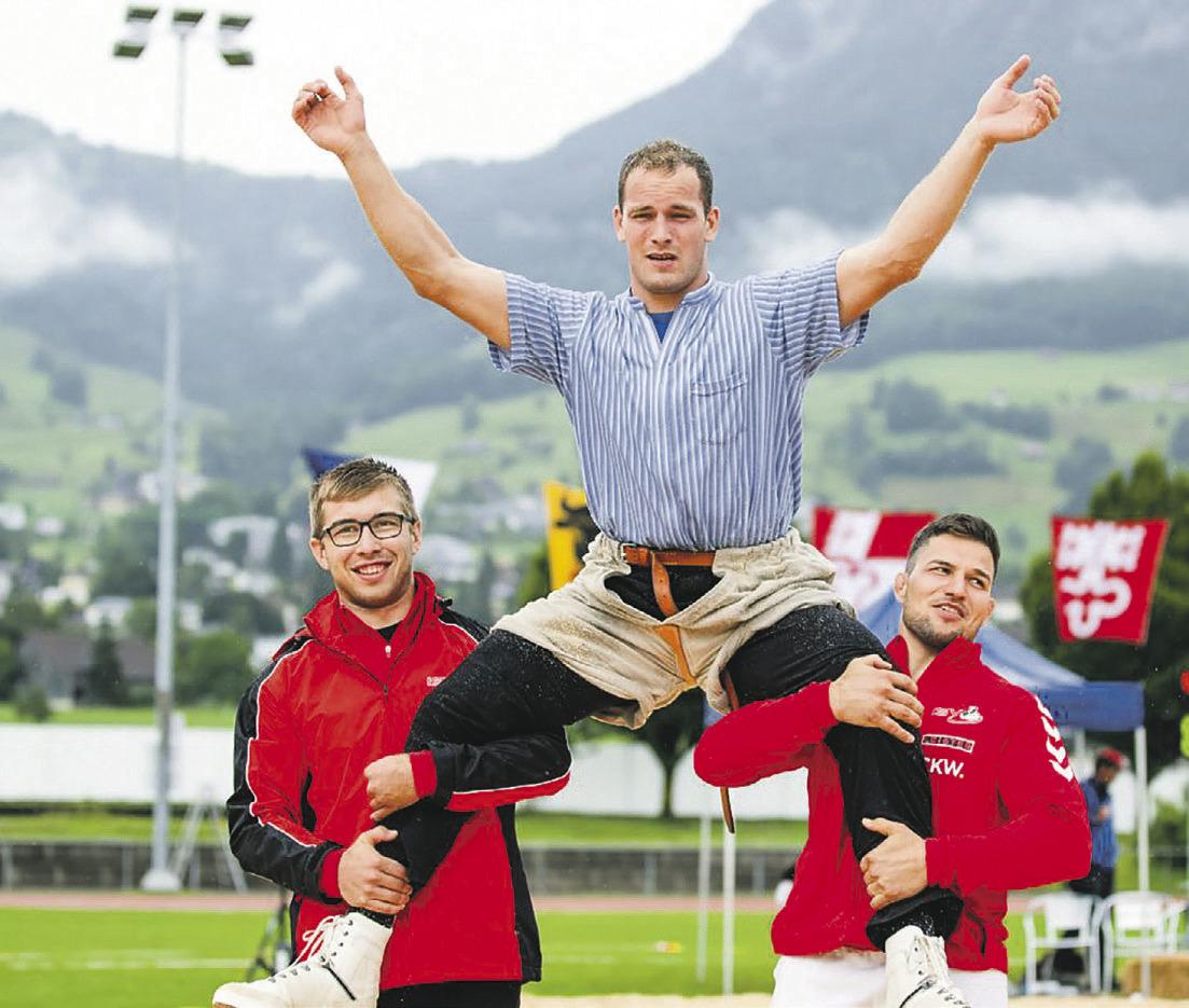 Luzerner dominierten das  Innerschweizer Schwingfest