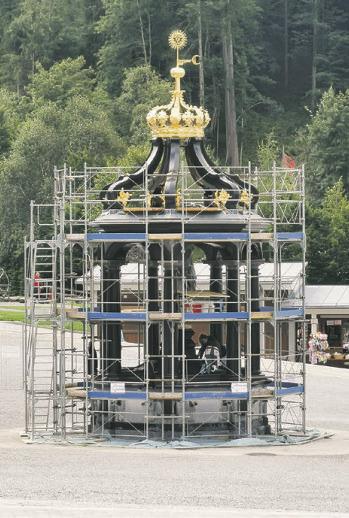 Wochenlang war der Marienbrunnen